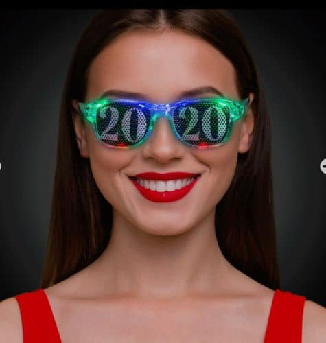 2020 eyeglasses on a smiling woman