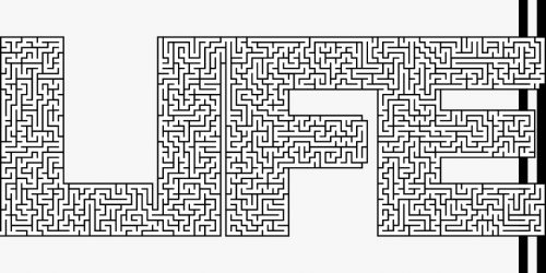 maze in the letters of life