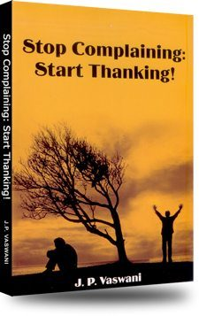 Stop Complaining: Start Thinking!, by Dada J.P. Vaswani - book cover