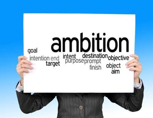 Sign showing ambition and intention