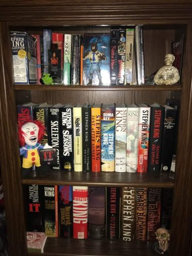 Steven King books on shelving