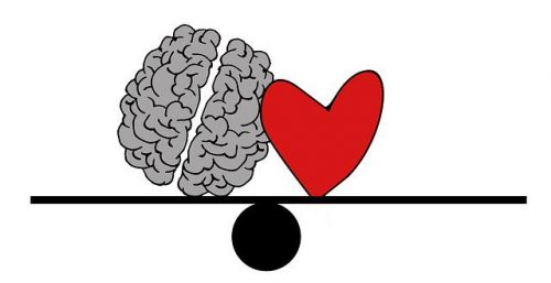 brain heart balance illustration