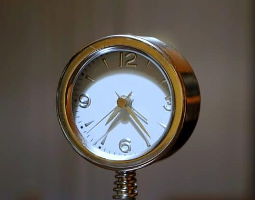A clock with a second hand