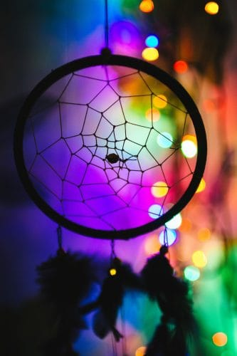 colorful Native American dreamcatcher