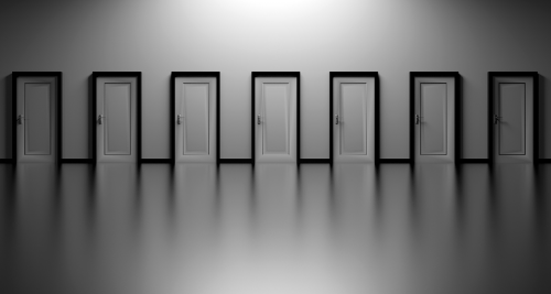 7 identical doors from which to choose