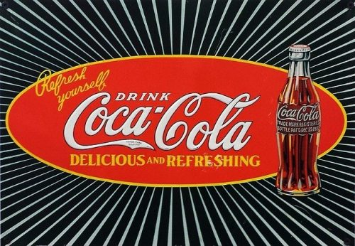 Vintage Coca-cola adverstisement
