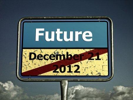 Sign crosses out the Future on Dec 21, 2012