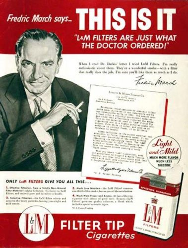 Ad for Filter Tip L&M cigarettes