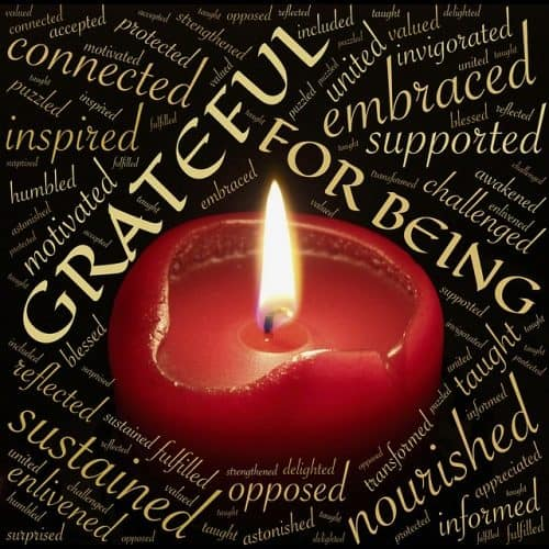 Lit candle - Gratefulness for being