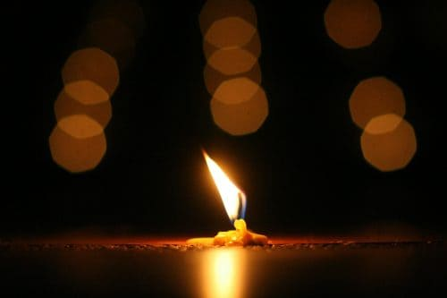 A candle that has shared its light for a long time.