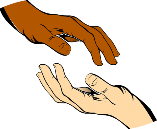 hands, giving and receiving
