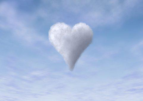 a heart out of clouds