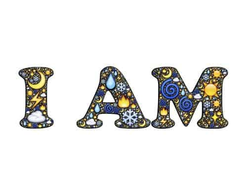 I am - decorative lettering