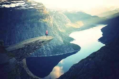Yoga high on a cliff - Image by Free-Photos from Pixabay
