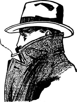 illustration of a spy