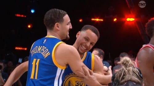 Stephen Curry and Clay Thompson
