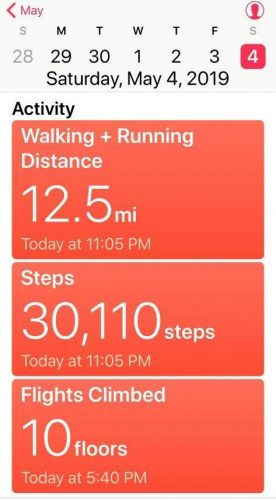 Walking-steps measurement