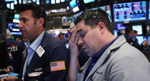 Stock market, 2 men worried