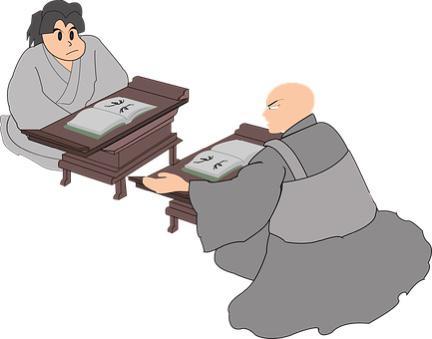 teacher and student illustration
