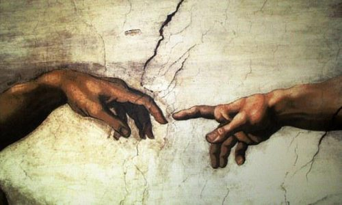 touch detail of Sistine Chapel