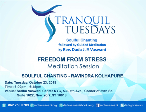 Tranquil Tuesdays Oct 23 Freedom from Stress