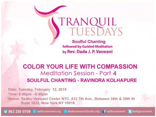 Tranquil-Tuesdays-2019-02-12-Compassion mediation & chanting