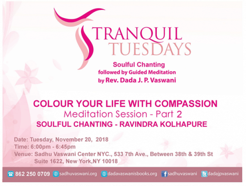 Tranquil Tuesdays 2018-11-20, Compassion