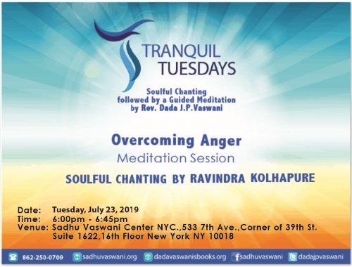 Tranquil Tuesdays 2019-07-23 overcoming anger meditation