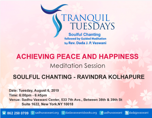 Tranquil Tuesdays 2019-08-06 peace & happiness meditation