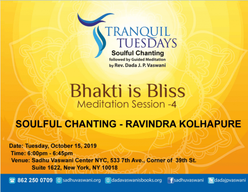 Tranquil Tuesdays 2019-10-15 Bhakti Bliss meditation