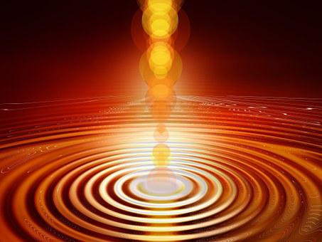 understanding - light pouring into concentric circles