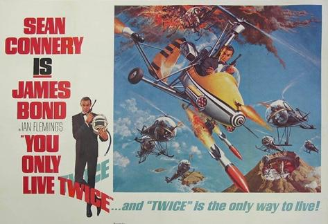 Poster of Sean Connery in You Only Live Twice